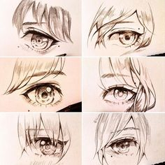 Eye compilation pt 1 which one is your favourite? ✨ Also I created a Facebook page! Link in the Bio! I'll probably update more often there with different content. #sketch #eye #compilation
