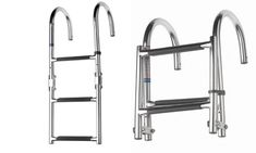 Vetus 3 step transom model ladder equipped with anti-slip
