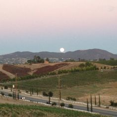This is a blue moon in Temecula California