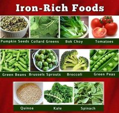 nutrition from foods ♥ Foods With Iron, Foods High In Iron, Iron Rich Foods, High Iron, Healthy Food Choices, Healthy Habits, Healthy Tips, Iron Enriched Foods, Iron Diet