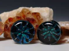 """Stalactite ear plug double flare 1/2"""" up to 1"""" gauge  piercing jewelry. $34.95, via Etsy."""