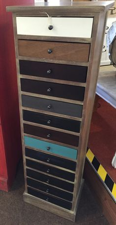 Our very popular 13 drawer wooden chest. Ideal storage for all those small bits and pieces! Wooden Chest, House Interiors, Furniture Ideas, Drawers, Dresser, Popular, Storage, Antiques, Home Decor