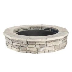 Natural Concrete Products Co 30 in. Fossill Limestone Fire Pit - The Home Depot fire pits surround Natural Concrete Products Co 30 in. Fossill Limestone Fire Pit - The Home Depot Stone Fire Pit Kit, Fire Pit With Rocks, Metal Fire Pit, Fire Pit Ring, Concrete Fire Pits, Wood Burning Fire Pit, Concrete Wood, Fire Fire, Concrete Blocks