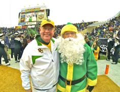 #Baylor University President Ken Starr with ... Baylor Santa? (pic via WacoTrib on Twitter)