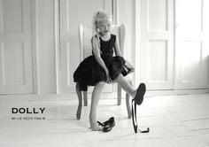DOLLY LACE DRESS FLOWERS BLACK Le Petit Tom ®