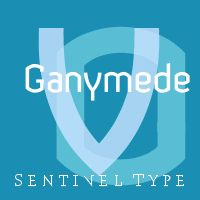 Ganymede is a geometric linear font combining industrial and architectural themes.    Chiselled forms and a crisp finish parallel automotive styling and industrial design from the turn of the 21st century, while the straight sides resemble road signage fonts like DIN 1451, and to a lesser degree hand-lettered shop signs in the grotesk style.