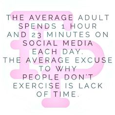 You are following Flex it Pink so we know that this does not apply to you! We know that you are not an average adult and you make your health and priority and you don't make excuses.  This now gives you some facts to defend your actions of breaking average.  Keep going gorgeous!!! XOXO  #FlexitPink