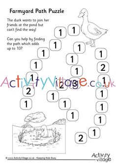This farmyard path puzzle practises simple addition skills. Maths Resources, Simple Addition, Early Math, Can You Help, Farm Yard, Math Skills, Paths, Puzzle, Puzzles