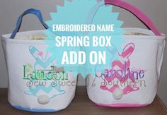 Embroidered Name// Spring Box ADD ON Small Shops, Names, Lovers, Sewing, Box, Handmade, Shopping, Couture, Sew