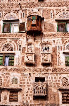 :::    PINTEREST.COM christiancross    :::: Traditional House, Sana'a, Yemen