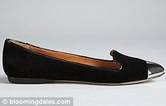 Another 'power flat' --> DV Dolce Vita suede smoking shoes, from bloomingdales.com, $79