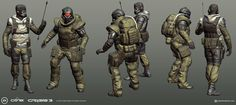 Crysis 3 - CELL Flanker/Heavy, Peter Boehme on ArtStation at http://www.artstation.com/artwork/crysis-3-cell-dudes
