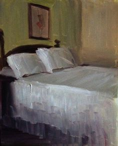 ◇ Artful Interiors ◇ paintings of beautiful rooms - Mary's Guest Bedroom, Sean Dietrich