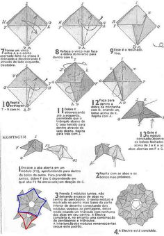 Origami diagram - page 2 of kusudama Electra by David Mitchell