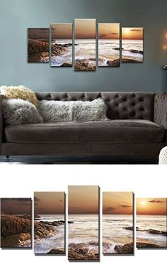 The Rocky Sea | Easy Wall Art Ideas for Living Room | Inexpensive Wall Decorating Ideas for Bedroom