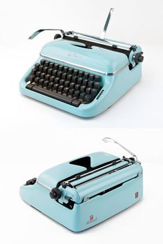 This beautiful portable typewriter was produced around 1960 by Optima (formerly Olympia). The Optima Elite has a very compact and robust design but