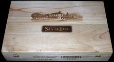 Santa Ema 6 Bottle Flip-top Wooden Wine Case