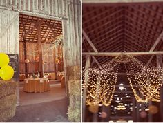 country wedding -- old barn + twinkle lights Rustic Wedding Reception, Farm Wedding, Green Wedding, Tent Wedding, Wedding Shoes, Wedding Gowns, Wedding Venues, Future Mrs, Twinkle Lights