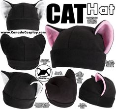 Cat Hat by calgarycosplay -- This is the absolute perfectness! Bunny Girl Body Suit Just in time for halloween! I have been making body suit costumes since 2007 and I still really have no idea how to do it. BUT I did document how I threw my . Sewing Hacks, Sewing Tutorials, Sewing Crafts, Sewing Projects, Sewing Patterns, Sewing Clothes, Diy Clothes, Fox Hat, Fleece Hats