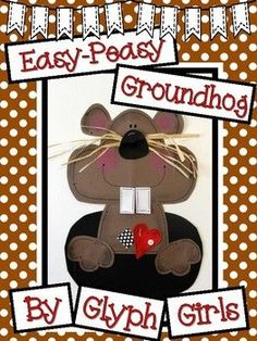 Will the Groundhog see his shadow? These cute Groundhogs would look great in the hallway, on a bulletin board, or hanging from the ceiling. They're perfect for Winter! This 11 page resource contains the following: Example photos Materials List Easy-Peasy Directions Patterns for Bear Crafts, Snowman Crafts, Groundhog Day Activities, Ground Hog, Winter Bulletin Boards, March Crafts, Penguin Craft, Love Teacher, Glyphs