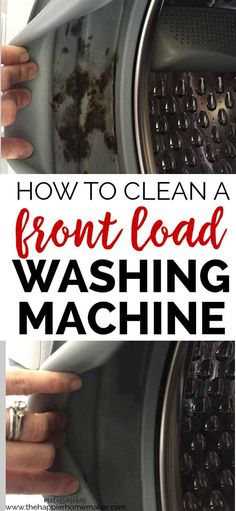 How to Clean a Front Load Washing Machine, including how to remove and prevent mold build up inside the gaskets. Great cleaning tips! Deep Cleaning Tips, House Cleaning Tips, Cleaning Solutions, Spring Cleaning, Cleaning Hacks, Diy Hacks, Cleaning Schedules, Cleaning Supplies, Homemade Toilet Cleaner
