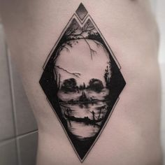 Blackwork skull by Balazs Bercsenyi
