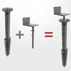 Foundation screw for wood deck NIVO - All About Balcony Pergola Diy, Small Pergola, Pergola Attached To House, Pergola Swing, Pergola With Roof, Deck Plans, Pergola Plans, Terrace Bois, Reforma Exterior