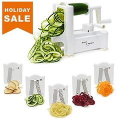 Makes Zucchini Noodles Veggie Spaghetti Pasta and Cut Vegetables in Minutes. Best Vegetable Spiralizer, Best Spiralizer, Veggie Noodles, Zucchini Noodles, Veggie Spaghetti, Chicken Zoodle Soup, Thai Chicken, Spiral Vegetable Slicer, Cool Kitchen Gadgets