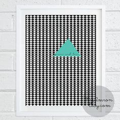 Triangles Peace and Love in Black and White 8x10'' Print by MrsAmron, $14.00