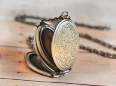Locket Silver Locket Jewelry Gift Four Photo Folding Jewelry Antique Locket Necklace Mothers Day Gift Family