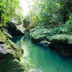 Secret river in blanchisseuse