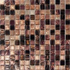 Treasure Trail Iridescent Mosaic 3/4 in. x 3/4 in. Glass Floor and Wall Tile