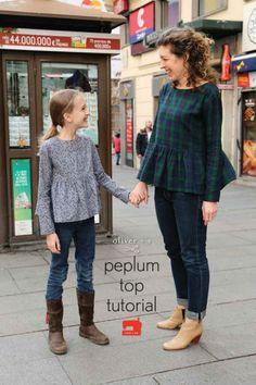 DIY : des top peplums pour filles et femmes « Blog de Petit Citron