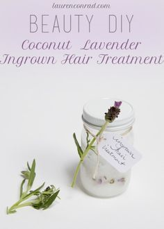 Beauty DIY: Coconut Lavender Ingrown Hair Treatment 3 tablespoons coconut oil 7 drops lavender oil 12 drops tea tree oil use after shaving/waxing Belleza Diy, Tips Belleza, Ingrown Hair Cream, Beauty Secrets, Beauty Hacks, Beauty Advice, Jugo Natural, Diy Beauté, Diy Crafts