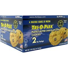 Product review for Chef Jay's Tri-O-Plex Cookies - Peanut Butter Chocolate Chip - Box of 12 Packages - 2 Cookies Each (3oz -85g per package) -  Reviews of Chef Jay's Tri-O-Plex Cookies – Peanut Butter Chocolate Chip – Box of 12 Packages – 2 Cookies Each (3oz -85g per package). Buy Chef Jay's Tri-O-Plex Cookies – Peanut Butter Chocolate Chip – Box of 12 Packages – 2 Cookies Each (3oz -85g per package) on ✓ FREE SHIPPING on qual