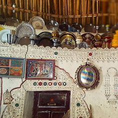 Home of the Mutva community  The Mutvas from the Banni region of Kutch are among the most prolific when it comes to styles of embroidery.  They had migrated from Sindh many centuries ago most likely in search of fodder for their cattle.  Some of the most beautiful crafts of the Mutvas get created around wedding. From around when a girl is 8 to 9 years old, till the age of 21 or 22, she embroiders 7 kanjeris ( blouses), 21 Godhdis ( quilts) and 2 covers for Thakiyas.  The groom in turn makes…