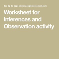 8 Best Observations Inferences Images Inference Scientific Method