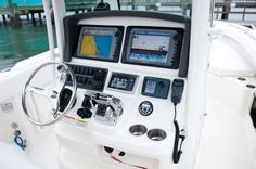 New 2010 Boston Whaler Boats 280 Outrage Center Console Boat - Control Center.