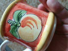 vintage Porcelain handmade apple painting mug Home Decor pottery #Rorstrand