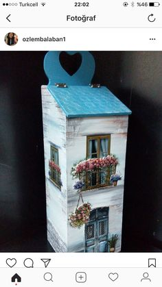 Wood Crafts, Diy And Crafts, Decoupage, Picture Search, Miniature Houses, Eminem, Painting On Wood, Bird Houses, Diy Art