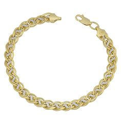 Fremada 14k Gold Fancy Link Bracelet