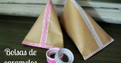 Manualidades y tendencias: Bolsas de caramelos de papel kraft / Candy bag www.manualidadesytendencias.com #papel #packaging #envoltorio #regalo #embalaje