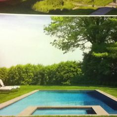 Another flush with grass pool example