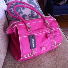 Studded Guess Bag♥♥ maybe in black would be cute?