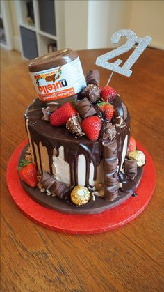 Nutella Chocolate Drip Cake