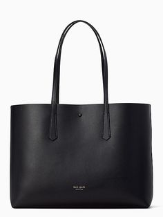 Shop the black molly large tote at Kate Spade New York official UK website. Explore our latest collection of ks-handbags online now. Kate Spade Large Tote, Kate Spade Tote Bag, Kate Spade Handbags, Black Leather Bags, Cute Purses, Everyday Bag, Cute Bags, Bag Sale, Fashion Bags