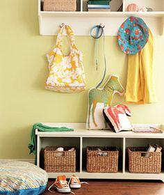 Organizing with wicker baskets