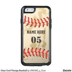 Shop Clear Cool Vintage Baseball OtterBox iPhone Case created by Personalize it with photos & text or purchase as is! Baseball Nursery, Baseball Art, Baseball Shirts, Baseball Pictures, Iphone 6 Cases, Apple Iphone 6, Cool Stuff, Vintage, Number