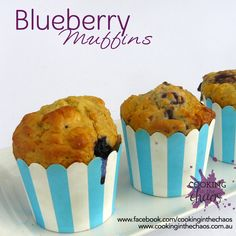 Recipe Blueberry Muffins by Cooking in the Chaos, learn to make this recipe easily in your kitchen machine and discover other Thermomix recipes in Baking - sweet. Lunch Box Recipes, Vanilla Yogurt, Muffin Tins, Blue Berry Muffins, Sweet Recipes, Food To Make, Blueberry, Baking, Eat