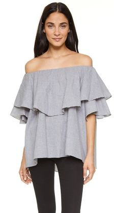 Off the shoulder ruffle top #obsessed #shopbop
